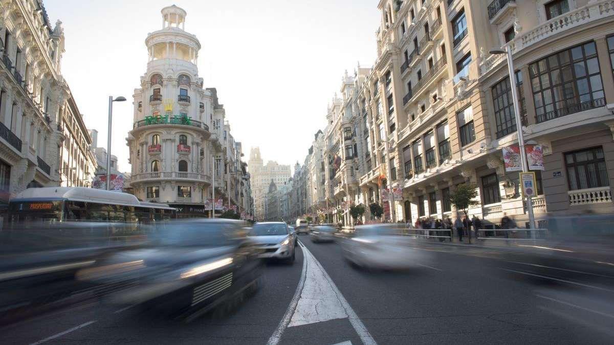 Protesta de Vox en coche por Madrid