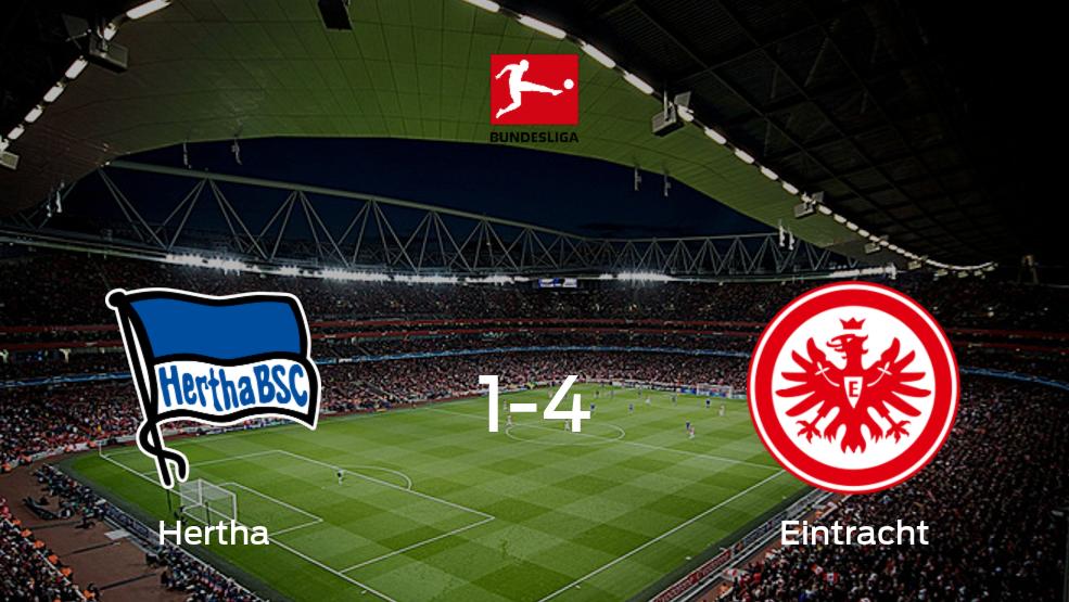 Eintracht Frankfurt se queda con los tres puntos frente a Hertha BSC (4-1)