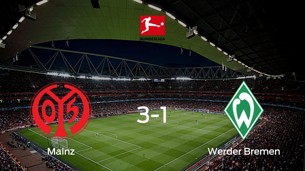 Mainz 05 vence 3-1 en su estadio frente a Werder Bremen