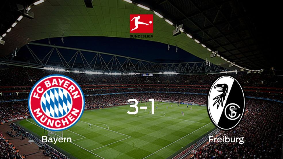 Bayern München derrota 3-1 a SC Freiburg en el Allianz Arena