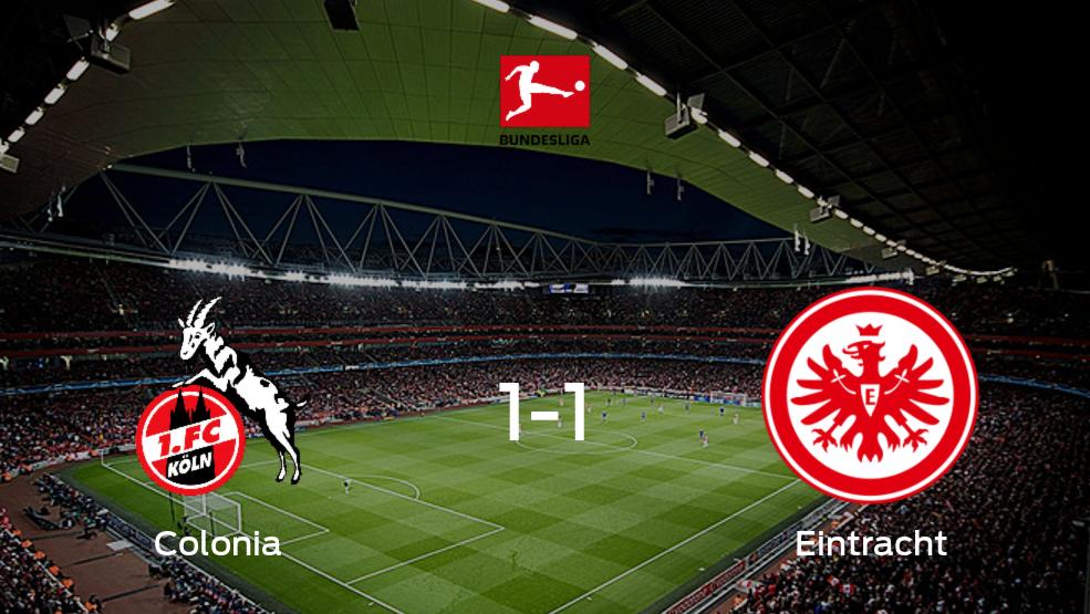 Empate a uno entre Colonia y Eintracht Frankfurt