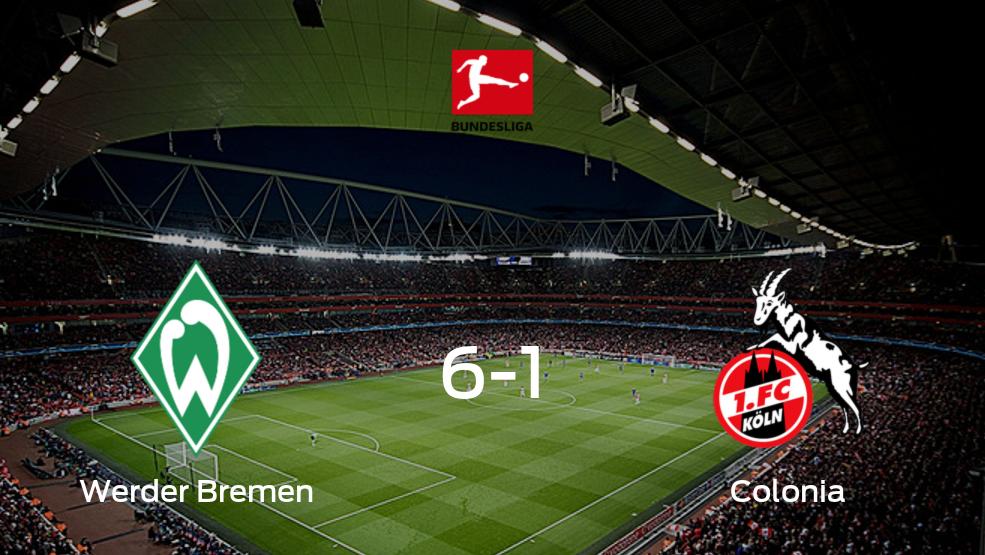 Tres puntos para el casillero de Werder Bremen tras golear a Colonia (6-1)