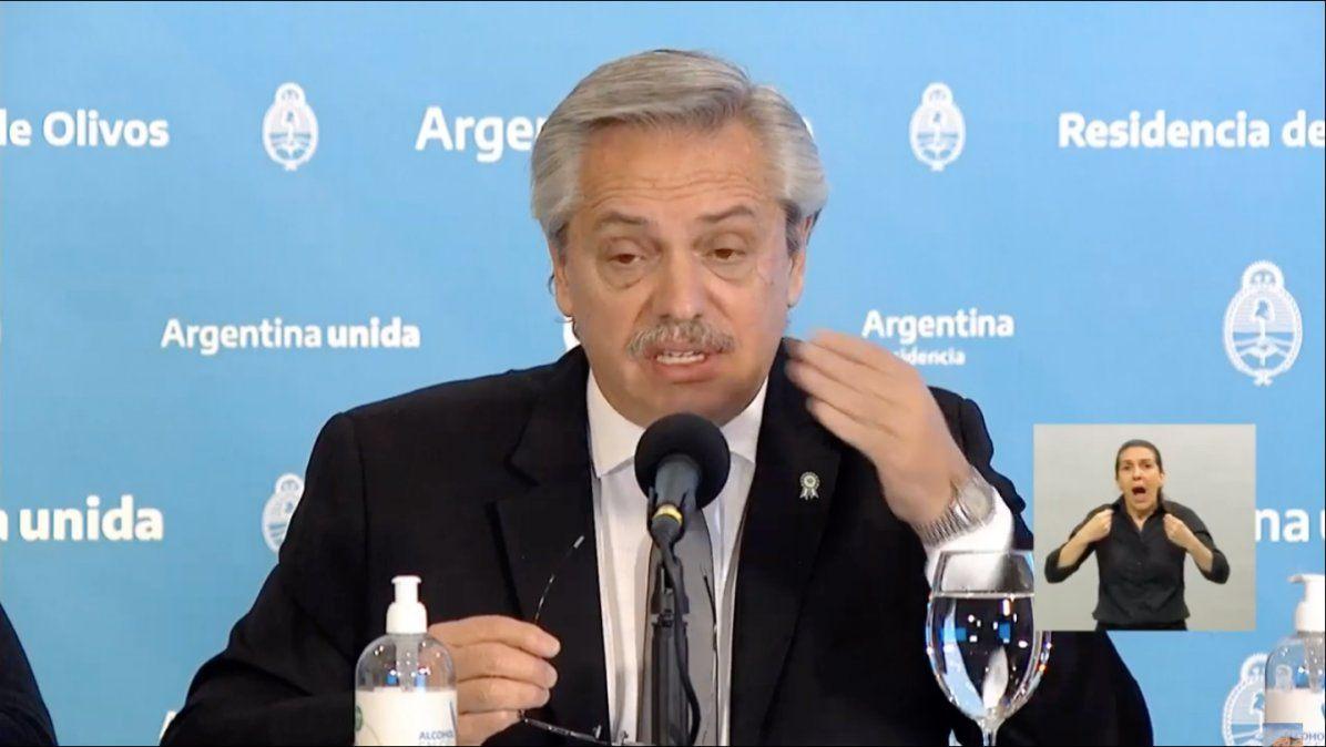 ASPO Alberto Fernández Cuarentena