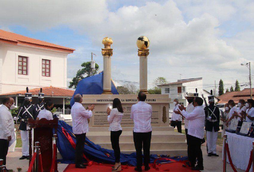 Polémica por monumento del Bicentenario inaugurado en Penonomé